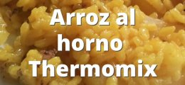 Arroz al horno en Thermomix
